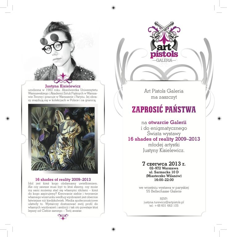 Grafika dla Art Pistols Galeria/ zaproszenie drukowane (inside)