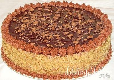 Tort cu nuca si ciocolata | Dulciuri fel de fel