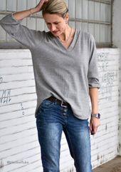 Sewing Pattern and Sewing Pattern Shirt Blouse Valetta Gr.34-50 – Freuleins | Patterns + instructions     #BlouseIdeas #BlouseLinen #BlouseSpring