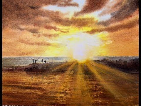 Солнечные лучи №3. Акварель.  Sky rays #3 Watercolour