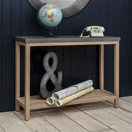 Brooklyn Console Table, Slate/Natural