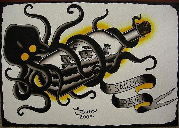 I'm lovin all the nautical themed tattoos im seeing