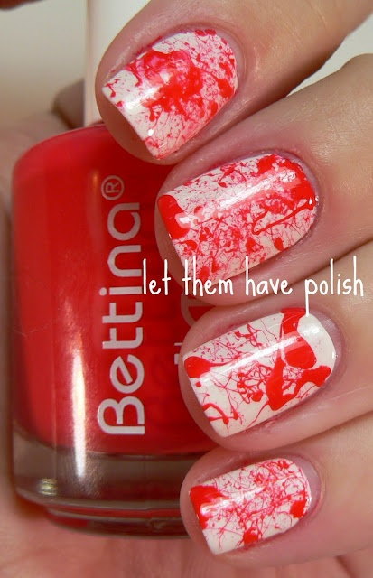 Splatter nails! Mask off fingers with tape, dip straw in polish and blow through other end. Voila!