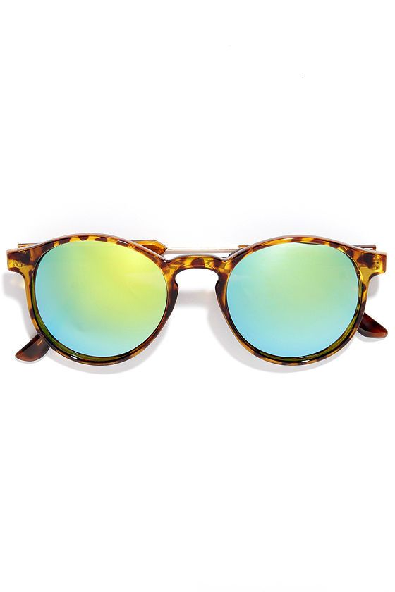 Pause and Reflect Tortoise Mirrored Sunglasses at Lulus.com! #Sunglasses #LoveLulus