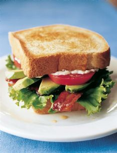 California BLTs (via Barefoot Contessa)/ Bacon, Lettuce and Tomatoe with an Avacaodo. That looks sexy!