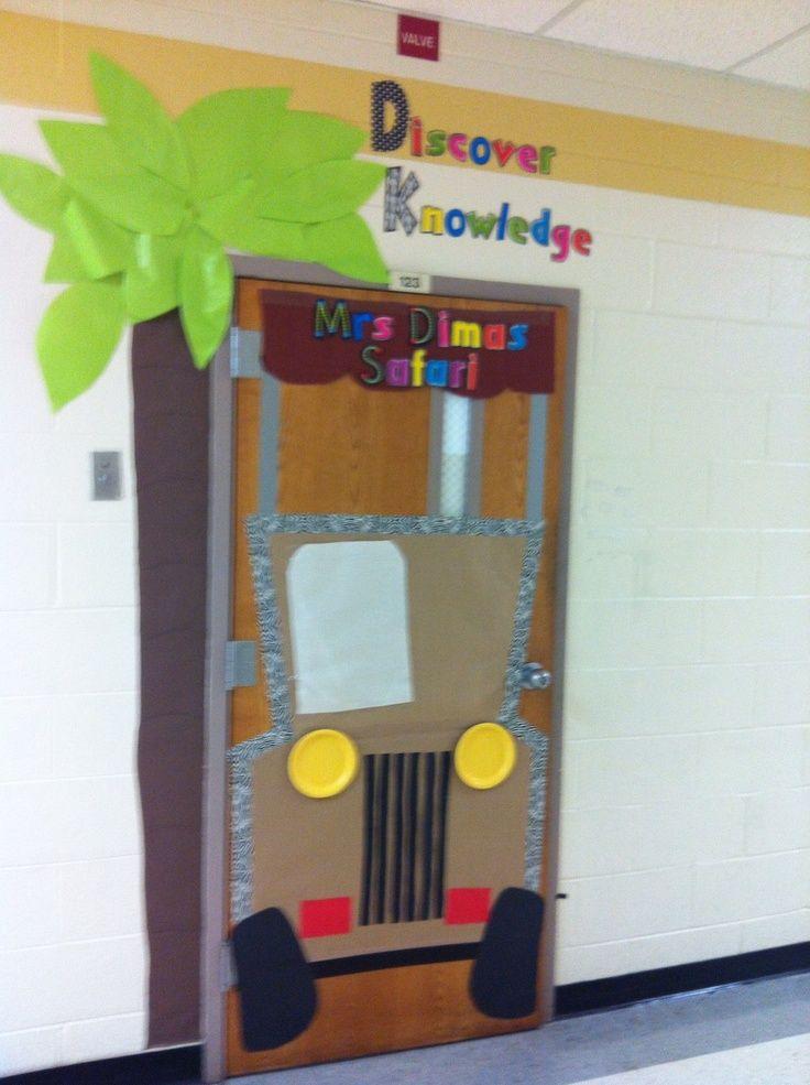Best 25 jungle classroom door ideas on pinterest jungle door jungle theme classroom and - Kindergarten door decorating ideas ...