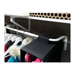 IKEA - MULIG, Clothes bar, Can be used anywhere in your home, even in damp areas like the bathroom and under covered balconies.The width can be adjusted to suit your needs.