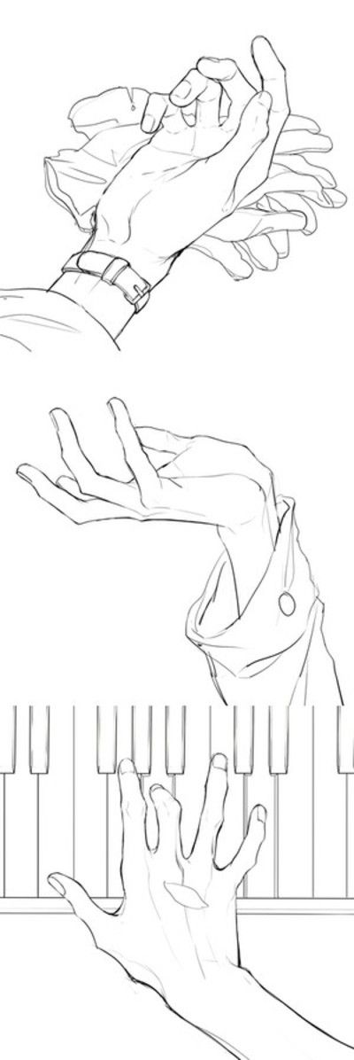 hands drawing sketching references poses