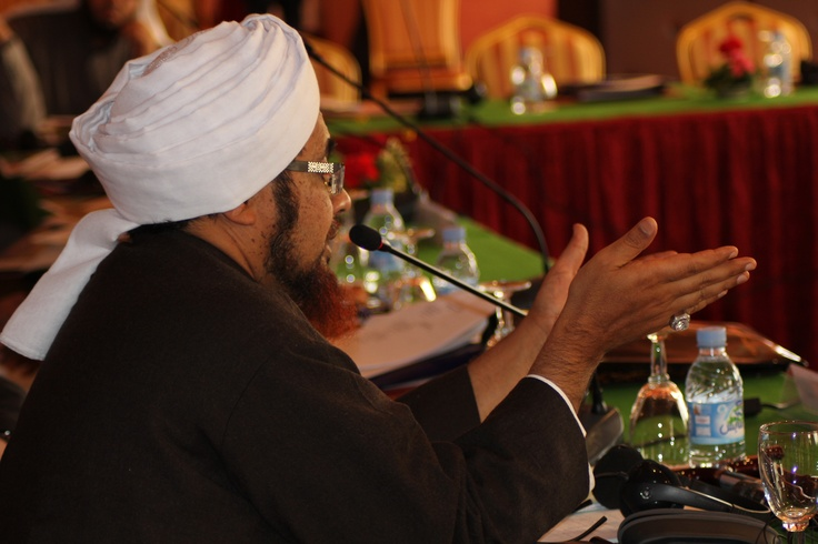 Shaykh Habib Umar talking at Summit