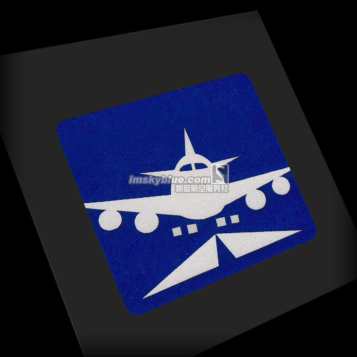 1 Pcs Sticker Light Reflecting Water Proof Cartoon Plane Start to Fly for Car Luggage Fridge Pilot Flight Crew Red / Blue