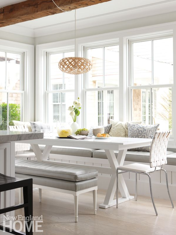 Light Gray Floors A Riff On Driftwood Knit Kitchen Dining Area And Living Room Together While Boosting The Homes Airiness
