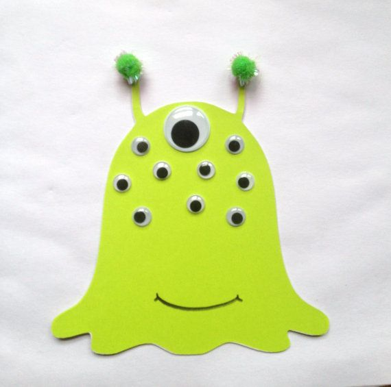 Paper alien craft kit for kids by mimiscraftshack on Etsy
