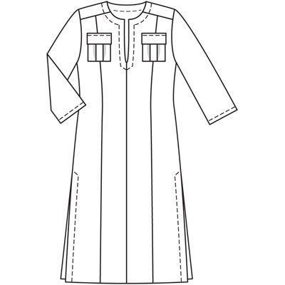 Платье-кафтан, Burda plus 2011/1