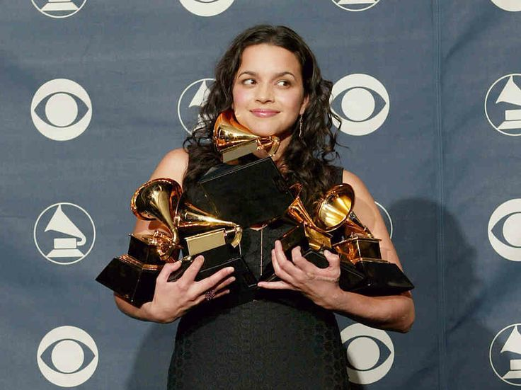 """Norah Jones dominated the Grammy Awards, picking up five trophies, including those for Best Record (""""Don't Know Why""""), Best Album (Come Away With Me), and Best New Artist.  Read more: Top News Stories from 2003 