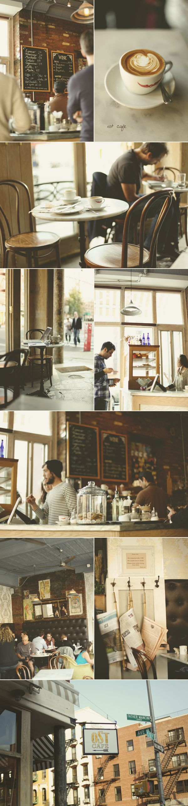 If NYC is ever a travel destination, this lovely cafe looks like it deserves to be near the top of the itinerary!