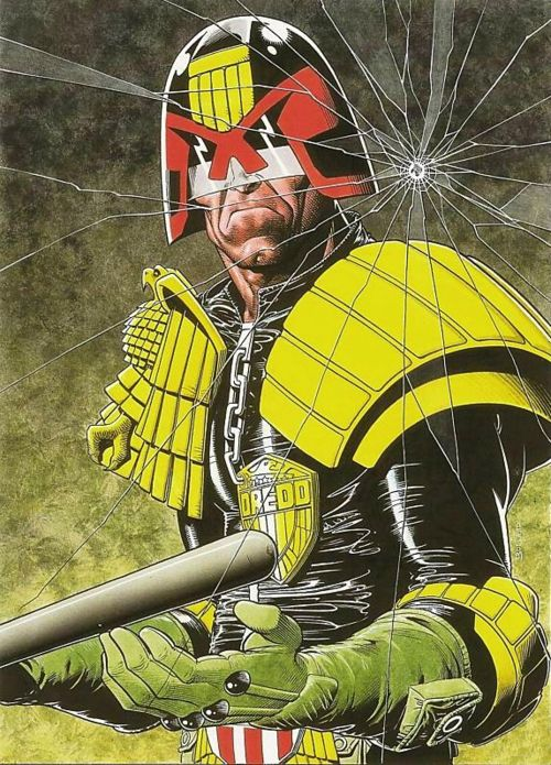 Judge Dredd by Brian Bolland