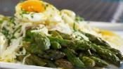 Image of Steamed Asparagus With Soft Boiled Eggs Raclette Cheese And Tarragon Vinaigrette, LifeStyle FOOD