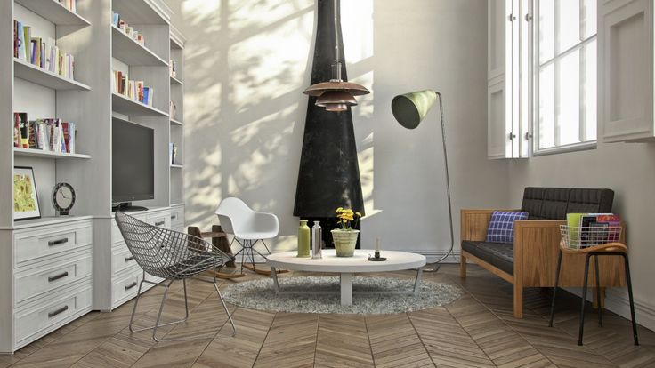 Scandinavian style interior for a tutorial at my blog www for Vray interior