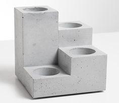 """Teelichthalter - Beton Kerzenständer """"Stufen"""", Designo... - ein Designerstück von D-Kraehmer bei DaWanda"""