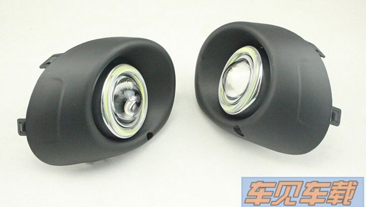 125.00$  Watch here - http://ali9er.worldwells.pw/go.php?t=32263874006 - top quality COB angel eye E13 projector lens fog lamp 5 colors led daytime running light for Mitsubishi outlander 2013, one pair