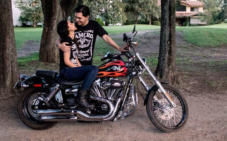 sesión de fotos con la motocicleta... photo shooting love <3