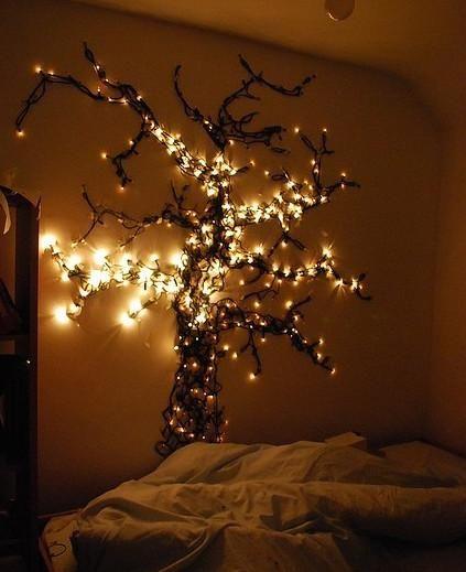 Romantisches bett mit lichterkette  Die besten 25+ Schlafzimmer lichterkette Ideen auf Pinterest ...