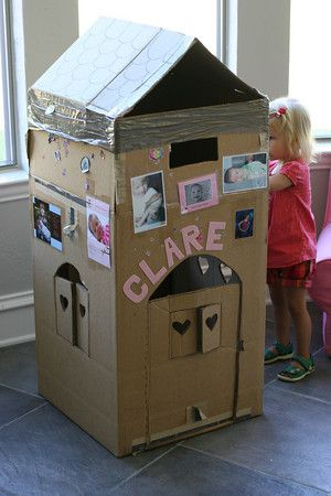 Cardboard box house. Next project:)