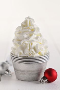 Peppermint Whipped Cream to top your coffee or dessert!