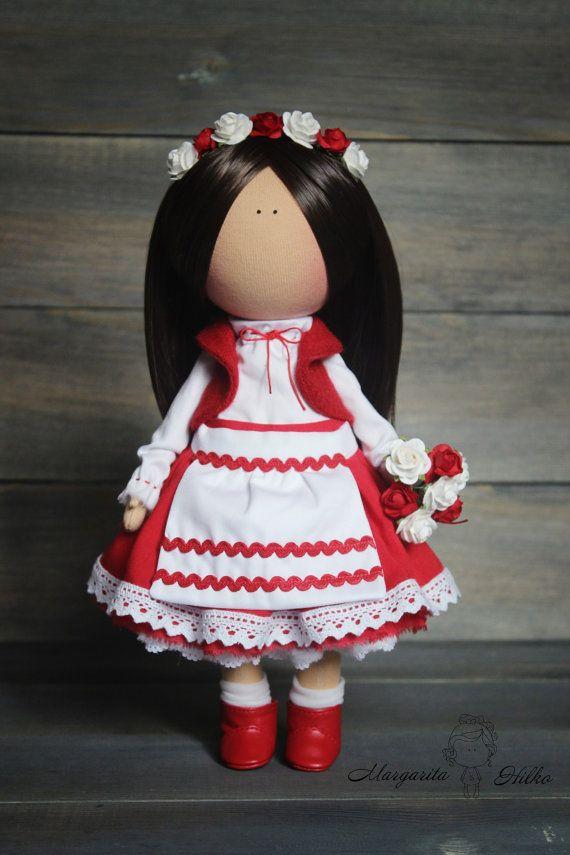 National costume doll Fabric doll handmade by AnnKirillartPlace