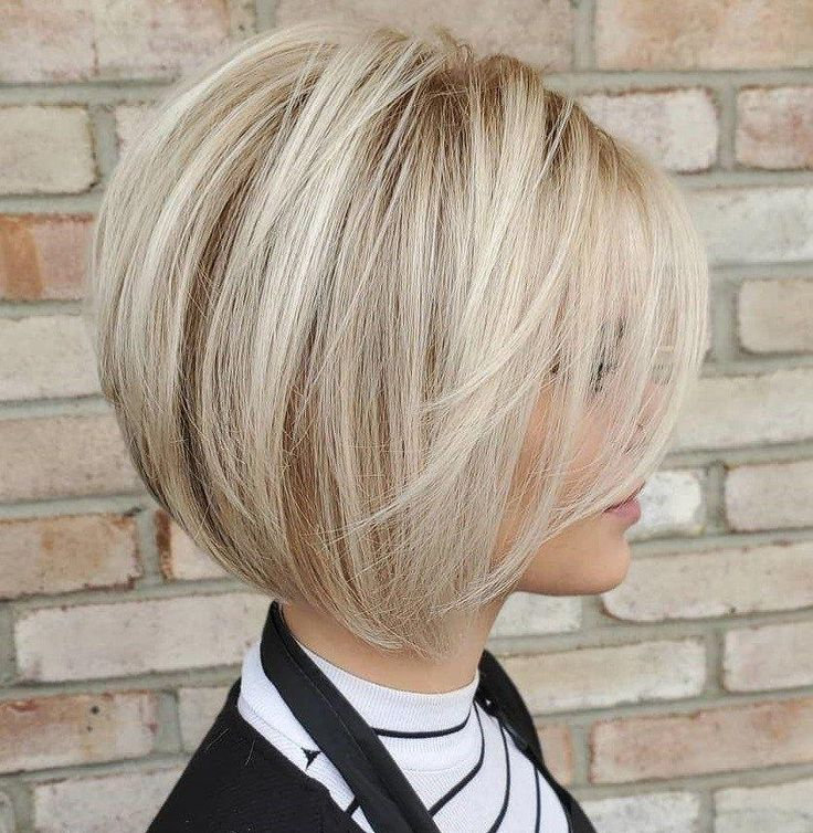 Short Blonde Bob Blowout #bobhairstyles