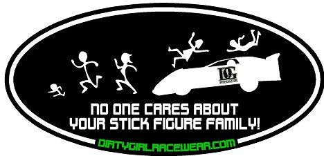 No One Cares - Dirt Late Model Racing Sticker