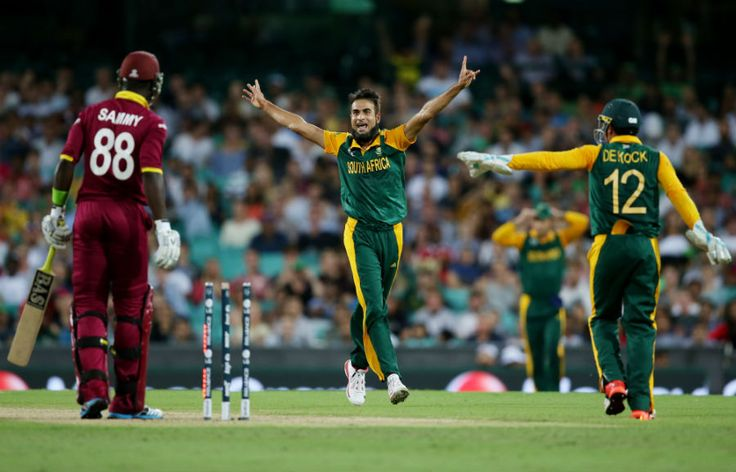 Imran Tahir took 5 wickets and restricted WI to 151.
