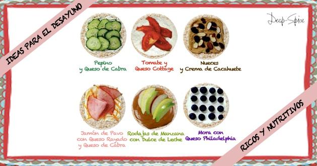 ideas para desayuno sano...