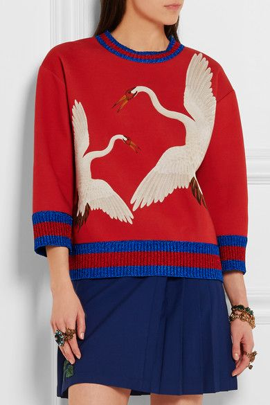 Gucci for NET-A-PORTER | Printed bonded cotton-jersey sweatshirt | NET-A-PORTER.COM