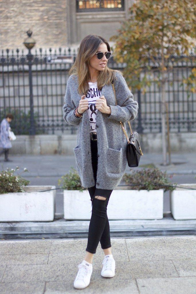 Chaqueta/jacket: & Other Stories. Camiseta/tee: Moschino. Jeans: Topshop. Zapatillas/sneakers: Adidas. Cinturón/belt: Mango. Bolso/bag: YSL. Gafas de sol/sunnies: Dior. Reloj/watch: Fossil.