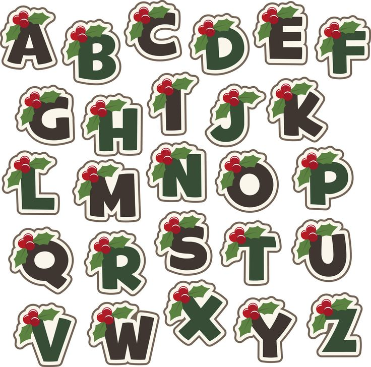 Christmas Holly Berry Alphabet