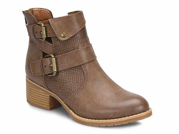 Eurosoft 59 00 Dsw Women S Low Heel 1 2 Round Ankle Strap Bootie Boots Dsw Boots Bootie Boots Casual Boots
