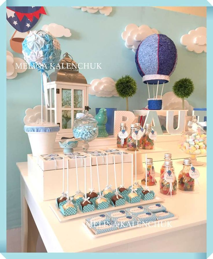 Hot air balloon birthday party! See more party ideas at CatchMyParty.com!