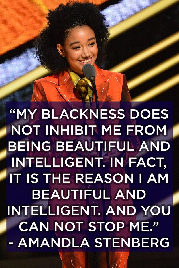 This badass proclamation from Amandla.   12 Affirmations From Black Girls Rock! That You Need In Your Life