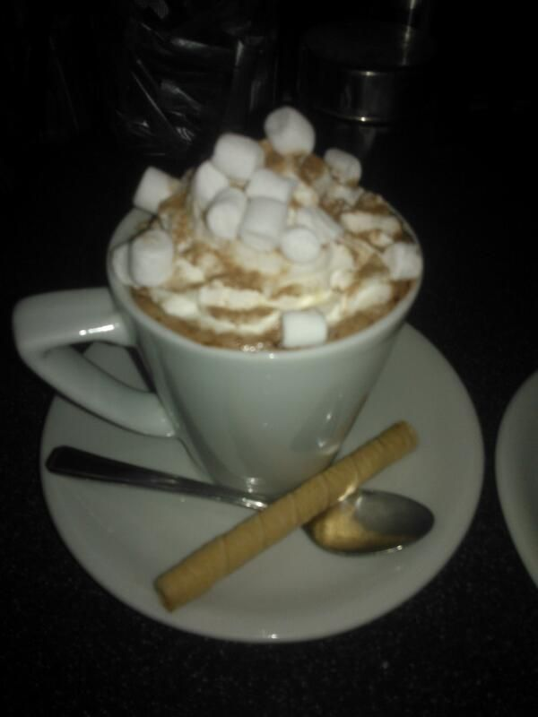 Warm yourself up with a hot choc, marshmellows & cream, any excuse for a treat... @spoonbistro