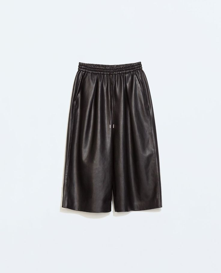 Image 6 of FAUX LEATHER LOOSE-TROUSERS from Zara