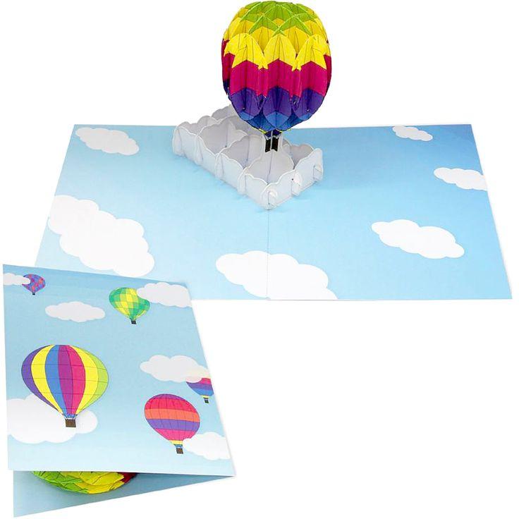 簡単無料ダウンロードで、カラフルな #気球 が飛んでいる #ポップアップカード が作れます!(*'∀'人)アラ素敵♥*+https://goo.gl/rRuuj3 #メッセージカード #クラフト #balloon