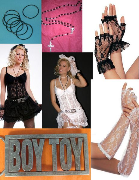Everything you could possibly need to go with your Madonna costume!