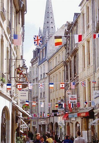 A old street in Caen, Normandy, France