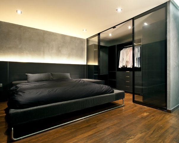 Masculine bedroom - by Architology I dont care if it's masculine.... I like it!!
