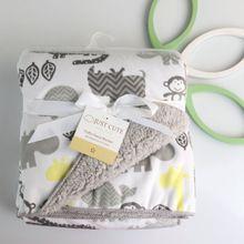 Mantas de bebé 2017 nueva espesar doble capa de lana de coral infantil bebe sobre envoltura swaddle bebé recién nacido manta de cama(China (Mainland))