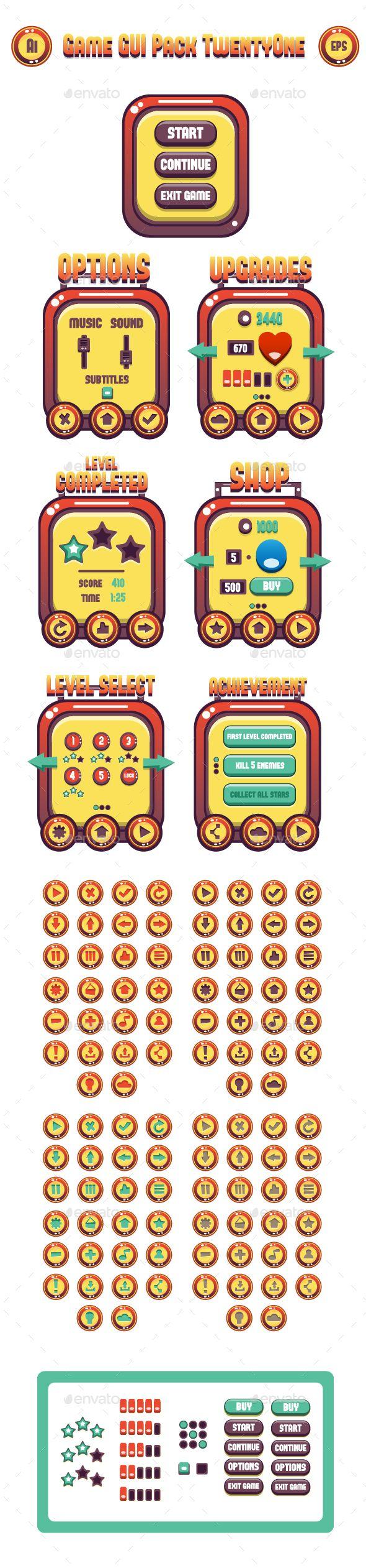 Game GUI Pack TwentyOne