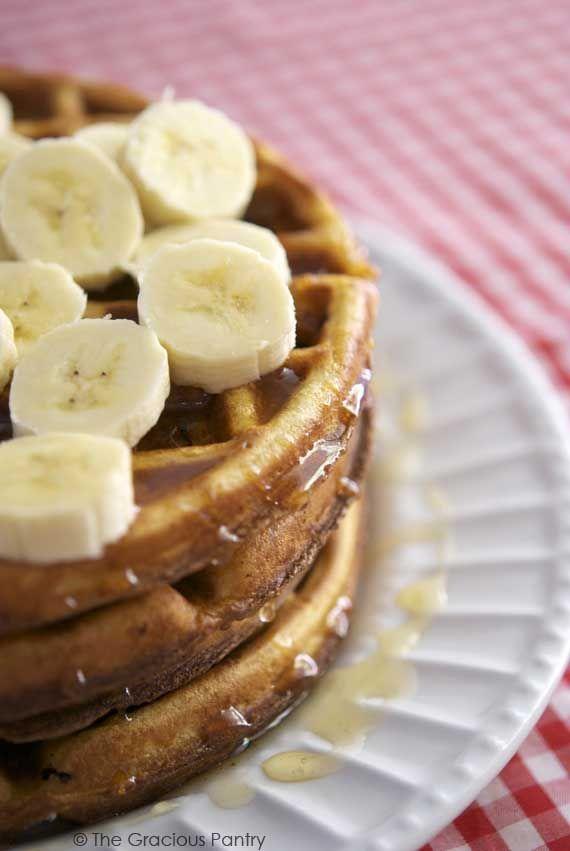 Clean Eating Whole Grain Waffles 2 C  white whole wheat flour 2 tsp. baking soda 2 whole eggs 3 cups milk (any kind)