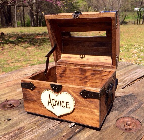 Wedding Advice Box  Wedding Chest  Wishing Well by CountryBarnBabe, $40.00