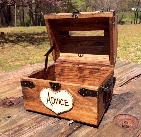 Wedding Advice Box Wedding Chest Wishing Well by CountryBarnBabe